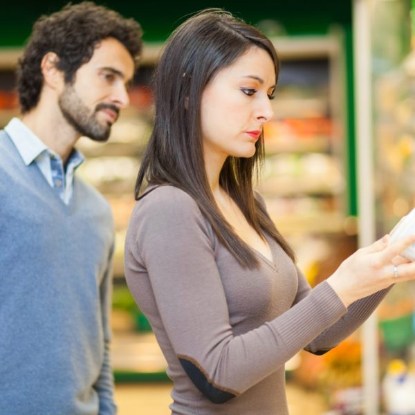 etykiety na produktach spożywczych